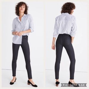 "Madewell 9"" High-Riser Skinny Coated Edition"